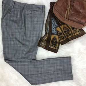 Brooks Bros 346 Plaid Wool Trousers Caroline Fit